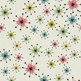 Seamless Vintage Atomic Stars Background