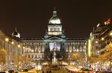 Wenceslas Square in the New Town of Prague, Czech Republic