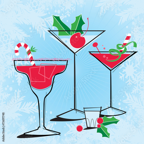Retro-style Holiday Cocktails - 73697748