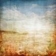 canvas print picture - Vintage Landscape Fabric Background