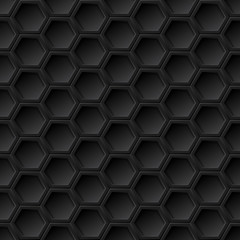Black grid seamless pattern