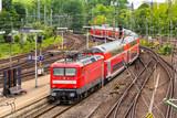 Regional express train in Hamburg Hauptbahnhof station - Germany