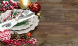 Christmas table setting - 73698954