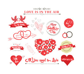 set of icons for Valentines day, Mothers day, wedding, love