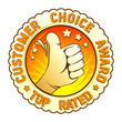 Customer choice award emblem.