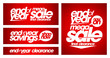 End of year mega sale banners.