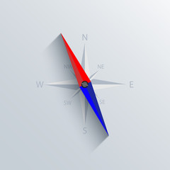 Vector modern compass background.