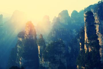 mountain landscape at zhangjiajie national park,china