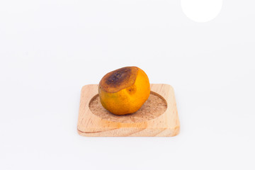 Rotten Orange Isolated on white background