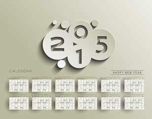New Year Calendar 2015 Background.