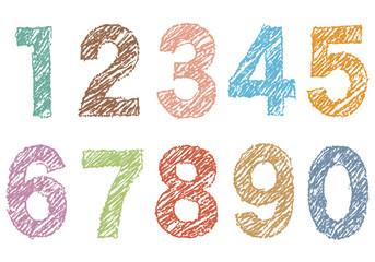 手書き風の数字