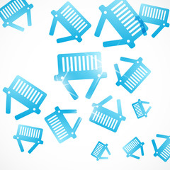 abstract background: basket