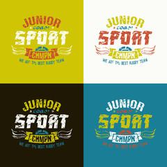 Junior rugby team emblem