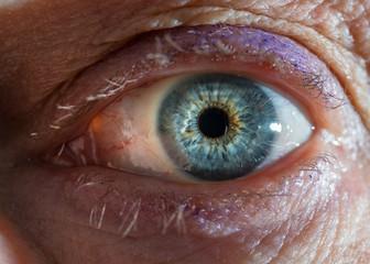 Human eye, super macro shoot. Selective focus.