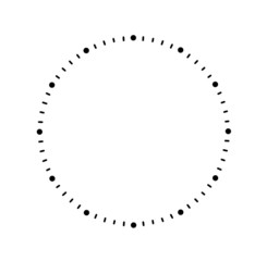 Clock dial with arrows on white background
