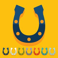 Flat design: horseshoe