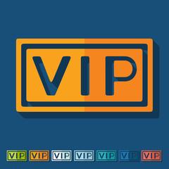 Flat design: vip