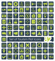 Set of tourism flat icons