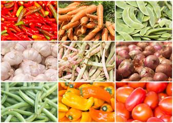 légumes du marché forain, Réunion