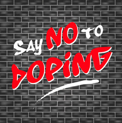 no doping graffiti