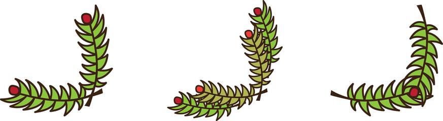 Christmas branch corner