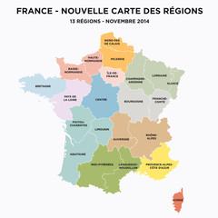 France - Nouvelle carte à 13 régions