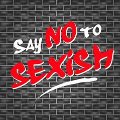 no sexism graffiti