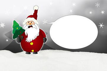 Angry Santa Claus Comic balloon