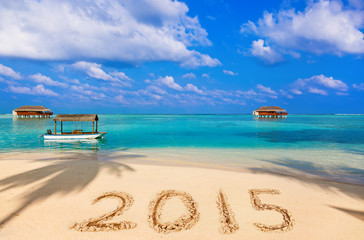 Numbers 2015 on beach