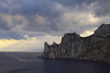 Rock in sea