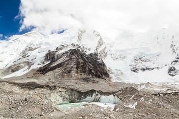 Himalaya mountains melting glaciers global warming climate chang