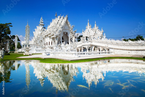 In de dag Overige Wat Rong Khun or White Temple, Landmark in Chiang Rai, Thailand.