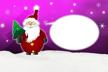 Funny and friendly  Santa Claus Comic balloon