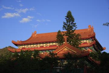 le temple de Po Lin sur l'ile de Lantau