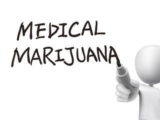 medical marijuana words written by 3d man