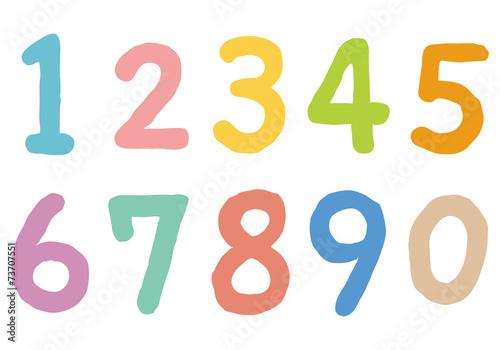 カラフルな数字