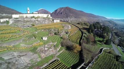 Sondrio - Valtellina - Monastero di S. Lorenzo con vigneti