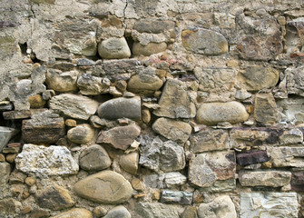 Muro di una vecchi casa diroccata