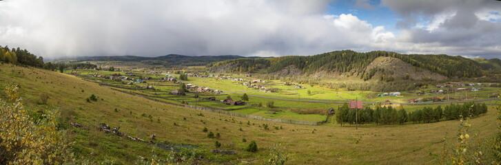 Bashkortostan. Top view of the Ishlyu