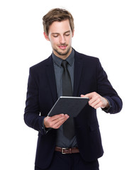 Businessman use of tablet