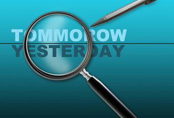 tommrow - -yesterday