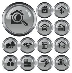 Real estate button set