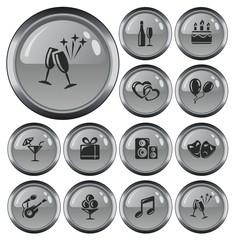 Party button set