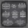 Vector Christmas Chalboard Labels