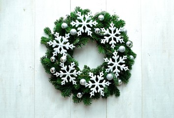Snow flakes wreath