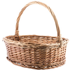 empty wickered basket