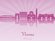 Verona skyline in purple radiant orchid