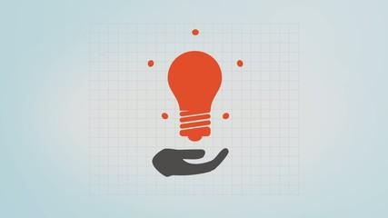 good idea - a hand and a light bulb