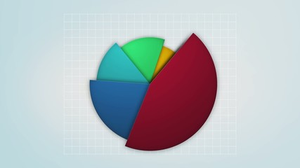 colorful pie chart in motion, loop