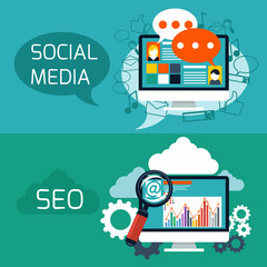 Concept for seo and social media application